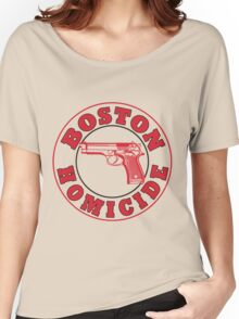 Rizzles Boston Homicide Logo Women's Relaxed Fit T-Shirt