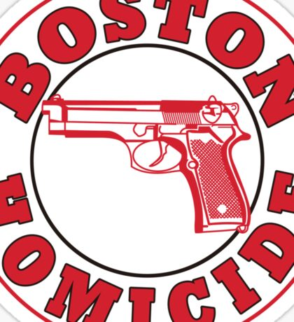 Rizzles Boston Homicide Logo Sticker