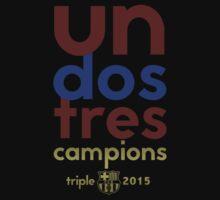 Barcelona: Treble Winners Shirt by soccerjoe