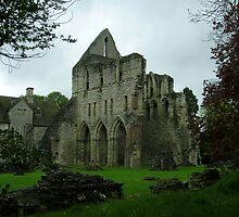Much Wenlock Abbey colour 7 by Lawson Clout