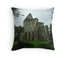 Much Wenlock Abbey colour 7 Throw Pillow