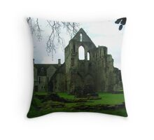 Much Wenlock Abbey Colour 9 Throw Pillow