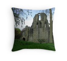 Much Wenlock Abbey Colour 8 Throw Pillow