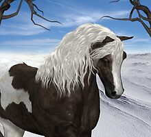 Seeking Shelter .. the paint stallion by LoneAngel