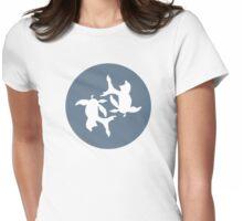 Infinity Koi Fish White Design Womens Fitted T-Shirt