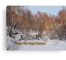 Glowing Christmas Greetings Canvas Print