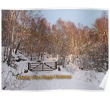 Glowing Christmas Greetings Poster