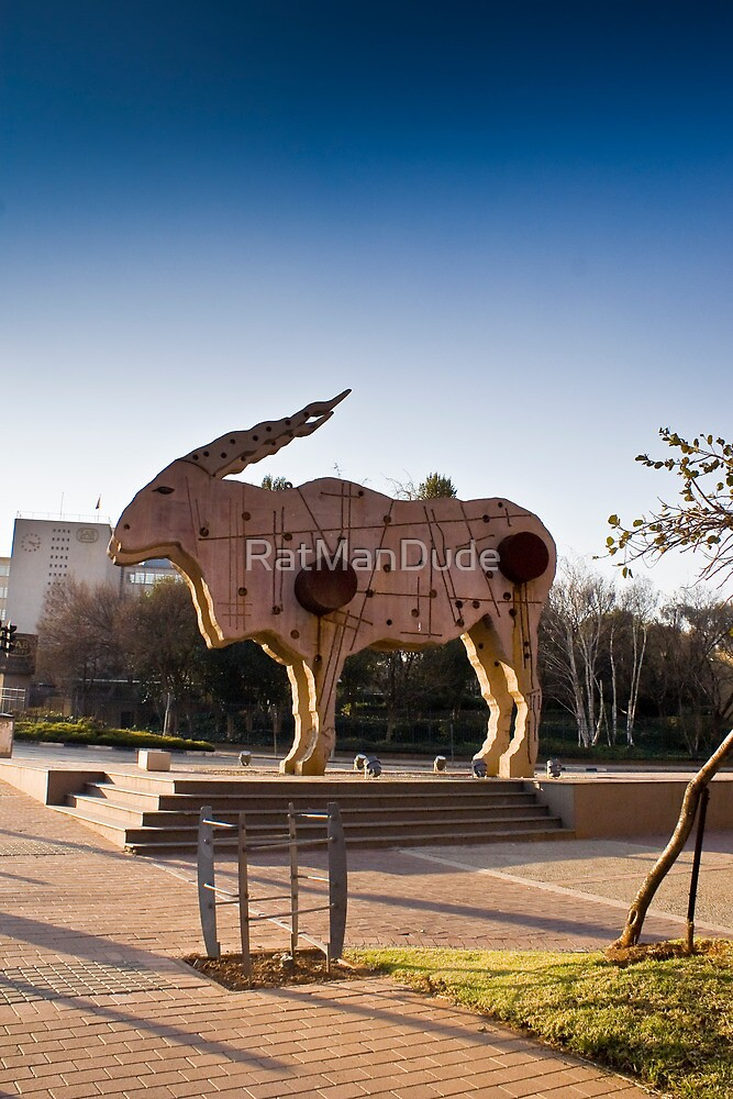 Eland Statue — City Art  by RatManDude
