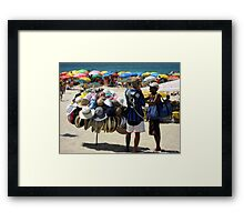 Haggling for a Hat  Framed Print