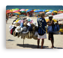 Haggling for a Hat  Canvas Print