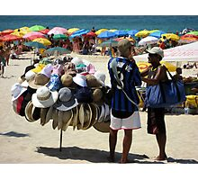 Haggling for a Hat  Photographic Print