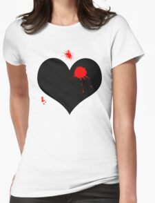 Bullet to the heart  Womens Fitted T-Shirt