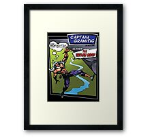 Capt Granitic Comic Panel 02 Framed Print
