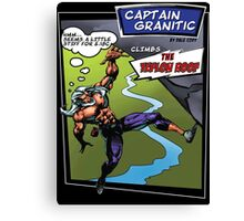 Capt Granitic Comic Panel 02 Canvas Print