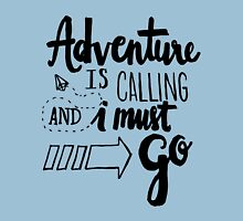 Adventure is Calling - Black Unisex T-Shirt
