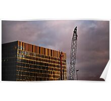 Crane and Building Poster
