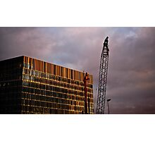 Crane and Building Photographic Print