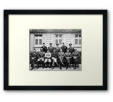 US Generals WWII -- Ike, Patton, Bradley Poster Framed Print