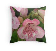 Pretty Pink Bellflowers..Macro Throw Pillow