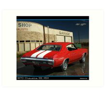 Chevelle 1970 Red Back 454 Art Print