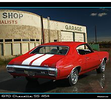 Chevelle 1970 Red Back 454 Photographic Print