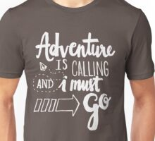 Adventure is Calling - White Unisex T-Shirt