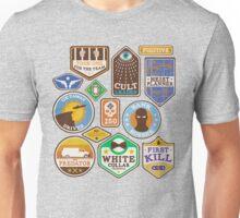 Criminal Merit Badges Unisex T-Shirt