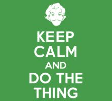 Keep Calm and do the Thing Baby Tee