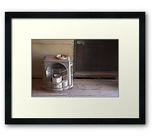 Old Kero Heater Framed Print