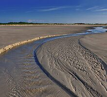 A small river on the beach by Adri  Padmos