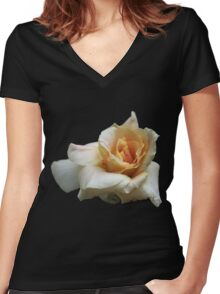 A White Rose Women's Fitted V-Neck T-Shirt