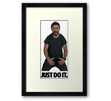 Shia LaBoeuf Just Do It Framed Print