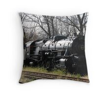 Steam Locomotive, Hamburg, NY Throw Pillow