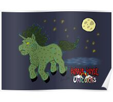 Horror Movie Unicorns: Lagoon Creature Poster