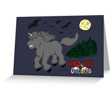 Horror Movie Unicorns: Wolfman Greeting Card