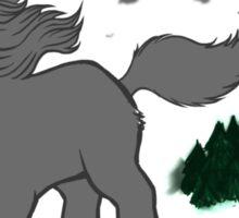 Horror Movie Unicorns: Wolfman Sticker