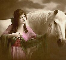 *Beauty and Her Horse* by VintageMoon