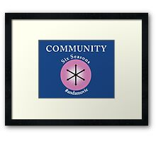 Community: Six Seasons #andamovie Framed Print