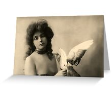 Vintage *Beauty and the Dove* Greeting Card