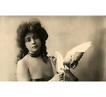 Vintage *Beauty and the Dove* Photographic Print