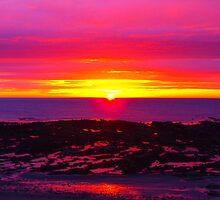 Sunrise at Beadnell Bay -1 by charlylou