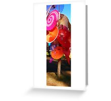 abstract of parasols Greeting Card