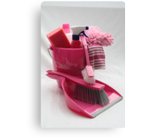 pink cleaning gear Canvas Print