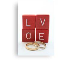 wedding bands = love Canvas Print
