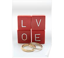 wedding bands = love Poster