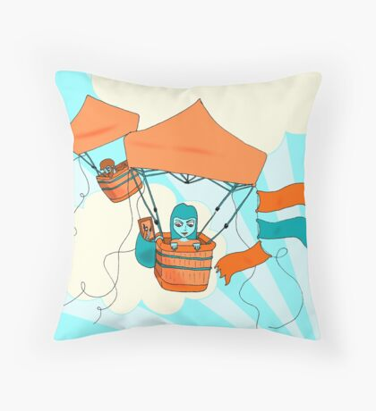 Pop Up Tent Balloons Throw Pillow