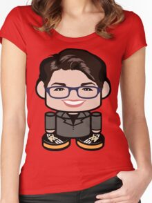Rachel Maddow Politico'bot Toy Robot 1.0 Women's Fitted Scoop T-Shirt