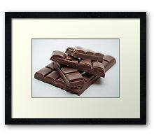 Milk Chocolate bar pieces Framed Print