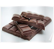 Milk Chocolate bar pieces Poster