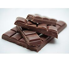 Milk Chocolate bar pieces Photographic Print